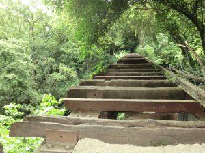 Cuarto puente del antiguo funicular